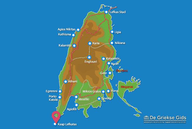 Uitstapjes / Trips vanaf Kaap Lefkatas