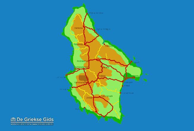 Uitstapjes / Trips vanaf Kaart - Landkaart Kythira