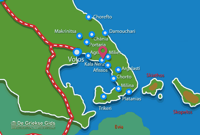Uitstapjes / Trips vanaf Kala Nera Pilion