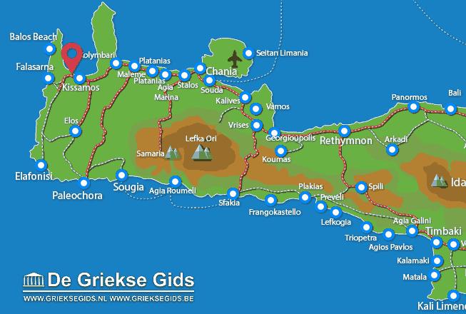 Waar ligt Chania Kreta