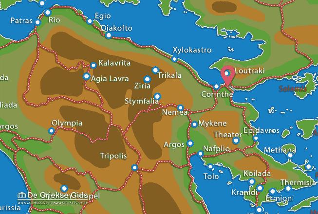 Uitstapjes / Trips vanaf Kanaal Korinthe