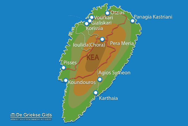 Uitstapjes / Trips vanaf Vakantiefilm Kea(Tzia)