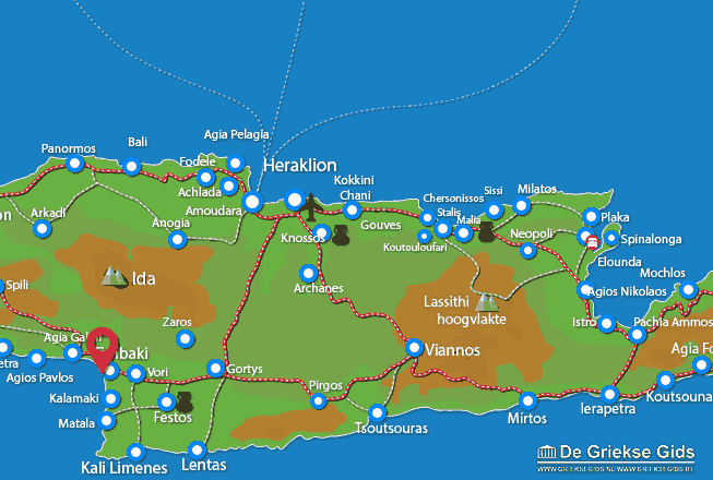 Uitstapjes / Trips vanaf Kokkinos Pirgos