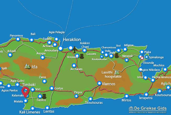 Waar ligt Heraklion Kreta
