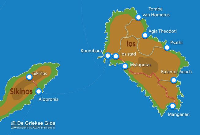 Uitstapjes / Trips vanaf Landkaart Ios