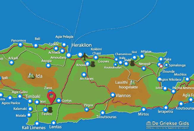 Uitstapjes / Trips vanaf Messara vallei