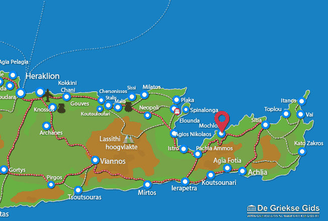 Waar ligt Lassithi Kreta