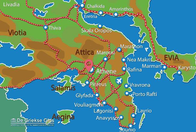 Uitstapjes / Trips vanaf Openbaar vervoer Athene