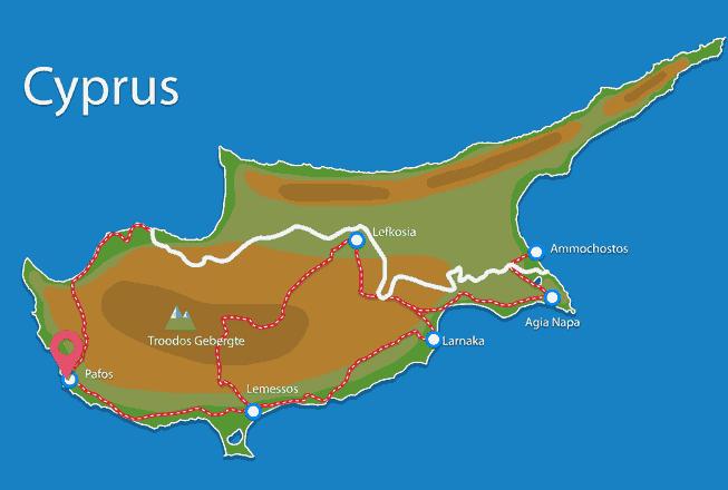 Waar ligt Cyprus