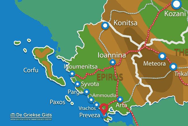 Uitstapjes / Trips vanaf Preveza stad