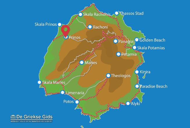 Uitstapjes / Trips vanaf Prinos