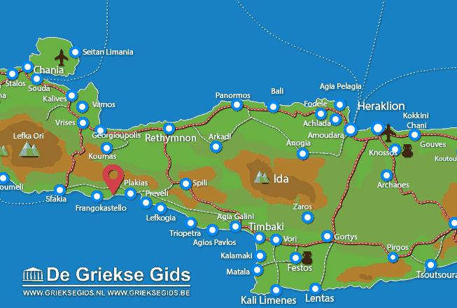 Waar ligt Rethymnon Kreta