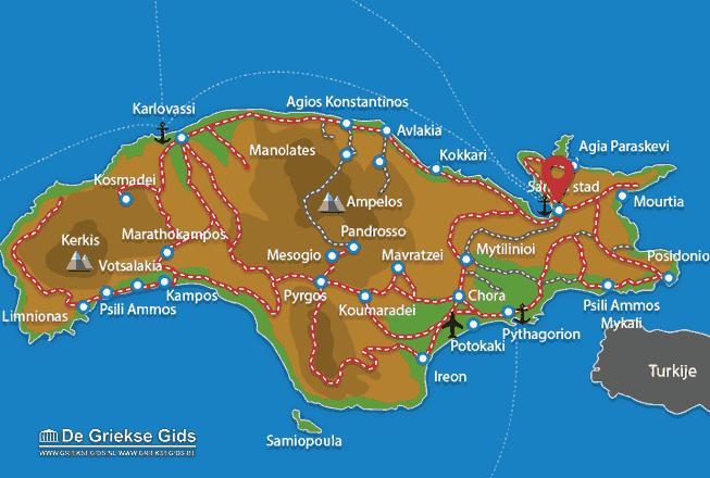Uitstapjes / Trips vanaf Samos stad