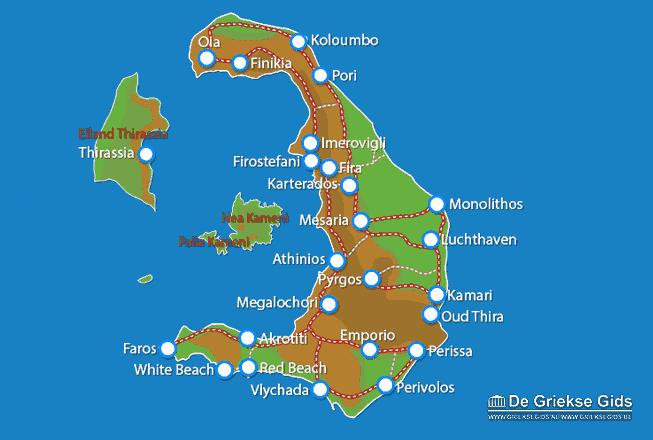 Waar ligt Santorini