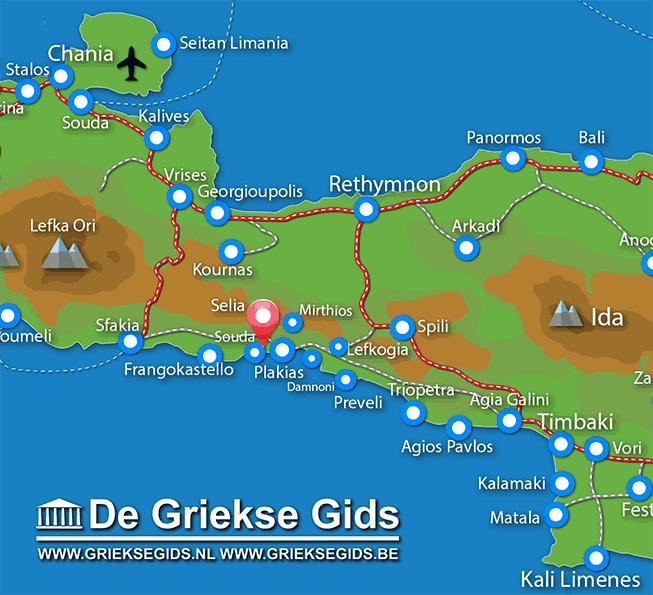 Uitstapjes / Trips vanaf Souda bij Plakias