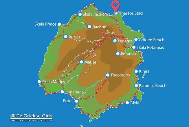 Uitstapjes / Trips vanaf Thassos stad