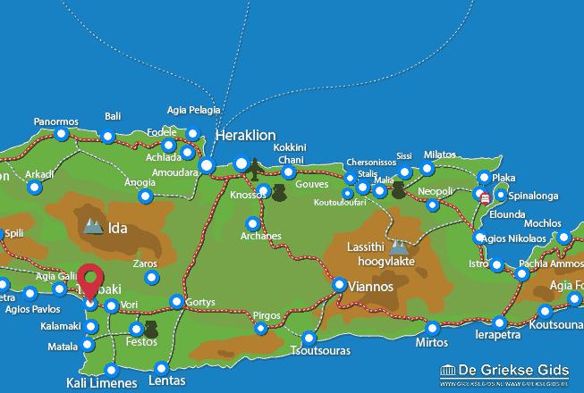 Uitstapjes / Trips vanaf Timbaki