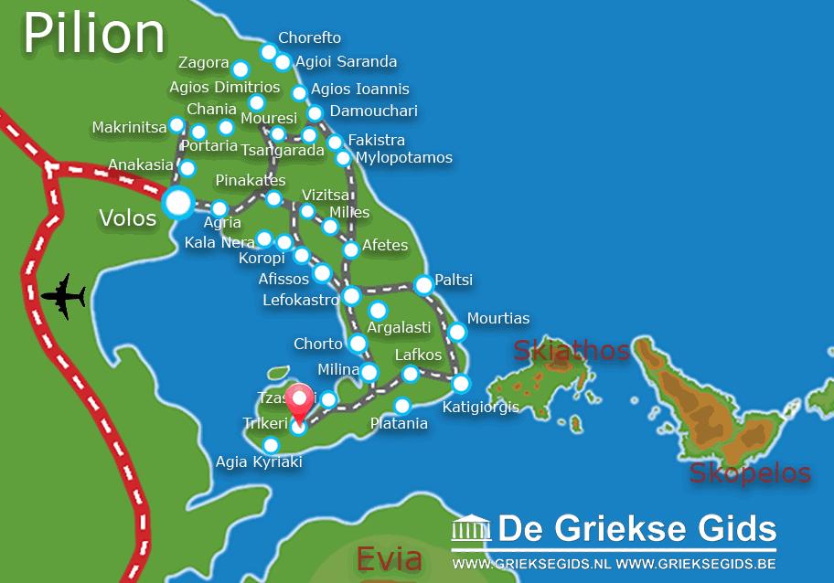 Uitstapjes / Trips vanaf Trikeri Pilion