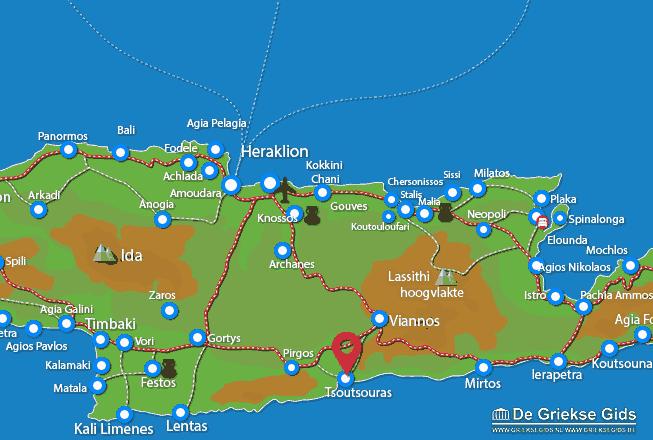 Uitstapjes / Trips vanaf Tsoutsouras