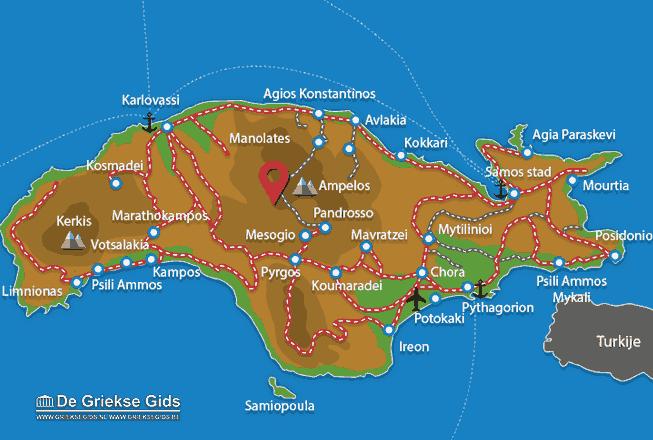 Uitstapjes / Trips vanaf Vakantiefilm Samos