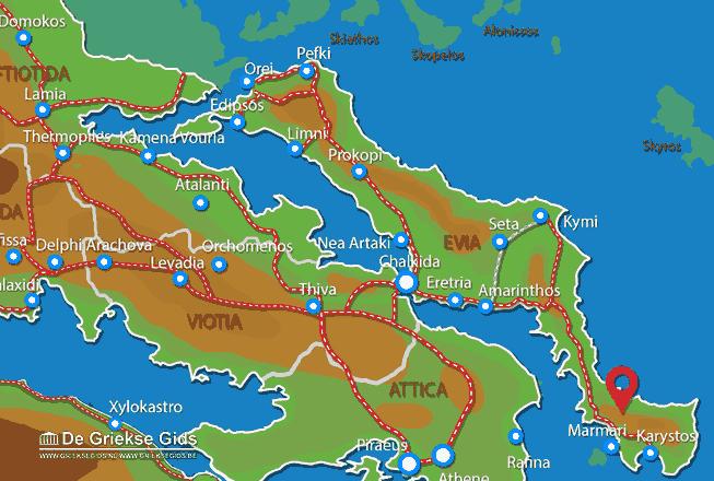 Uitstapjes / Trips vanaf Zuid Evia