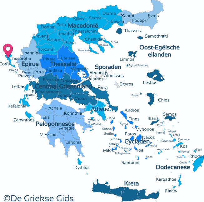 Waar ligt Corfu