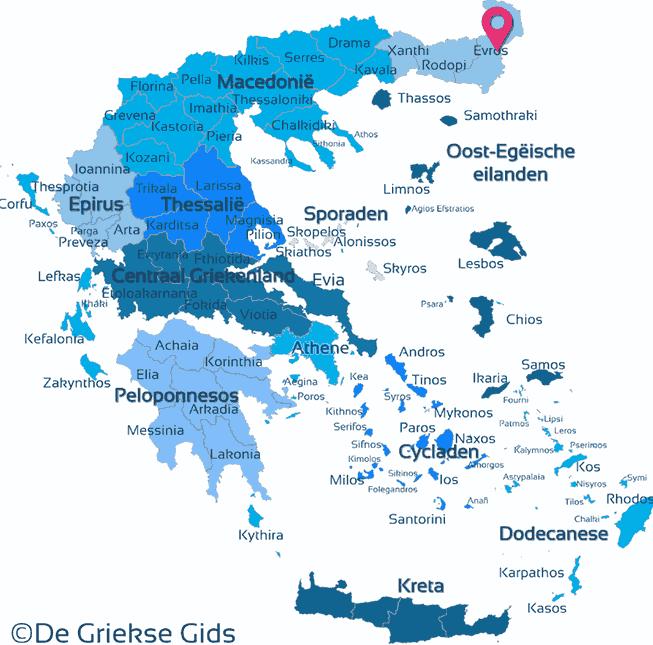 Waar ligt Evros