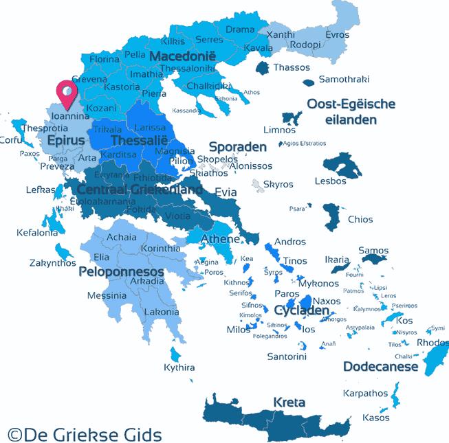 Waar ligt Ioannina