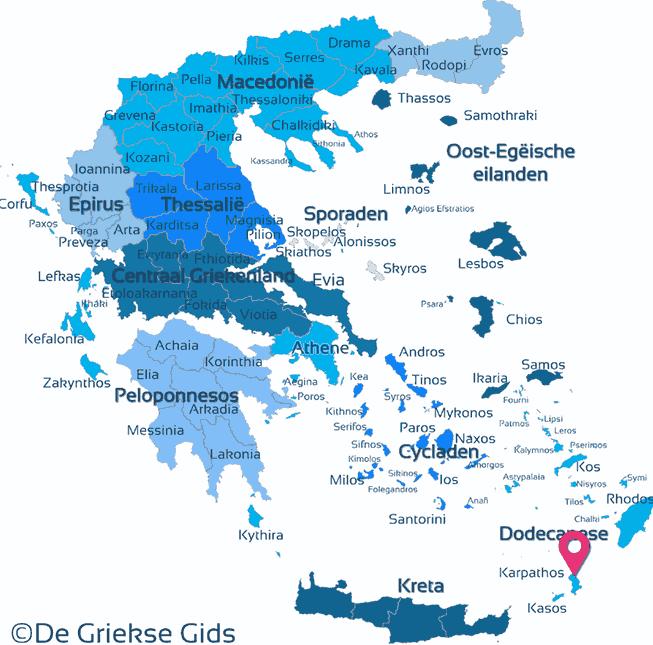 Waar ligt Karpathos