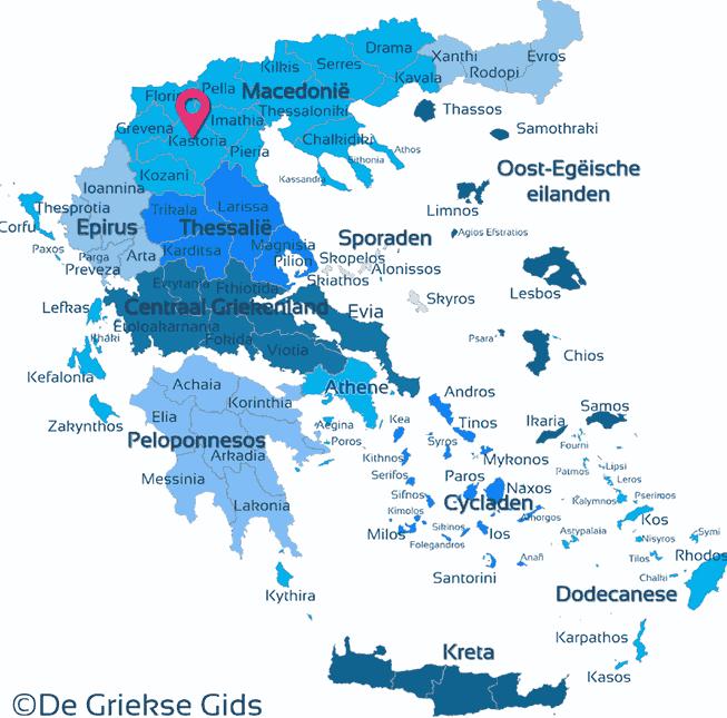 Waar ligt Kastoria