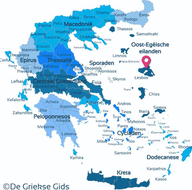 Waar ligt Lesbos