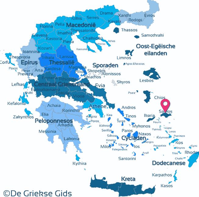 Waar ligt Samos