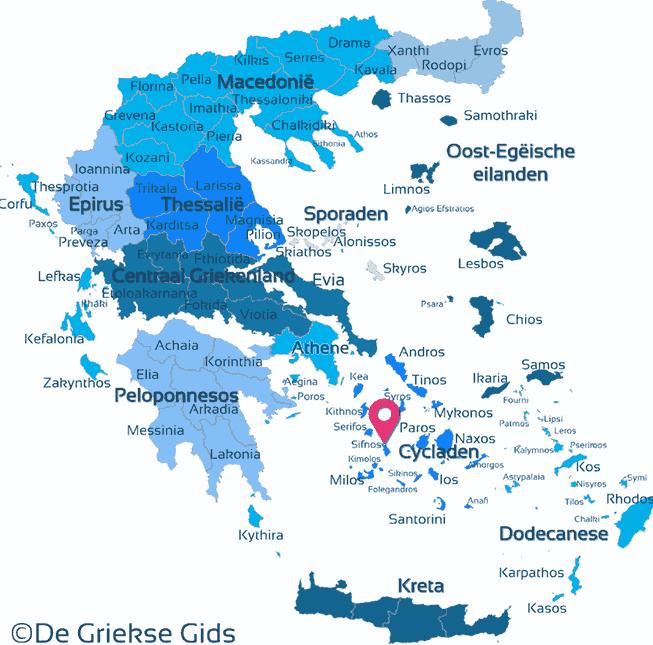 Waar ligt Sifnos