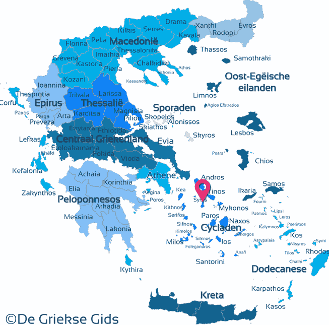 Waar ligt Syros
