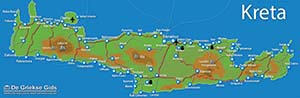 De interactieve kaart van Kreta