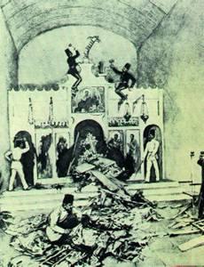 De vernieling van Kerken op Kreta