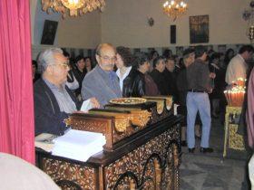 Griekse kerk met Pasen