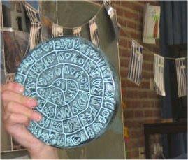 De discus van Festos (een replica)